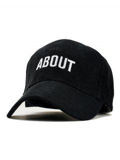 Letter Decoration Simple Style Baseball Hat - Black