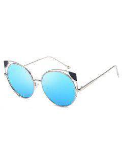 Hollow Out Cat Eye Shape Sunglasses - Dunkles Himmelblau
