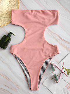 ZAFUL Reversible Bandeau Monokini - Light Pink M
