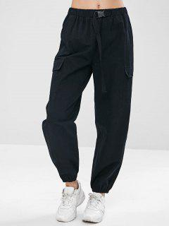 ZAFUL Drawstring Pocket Jogger Pants - Black L