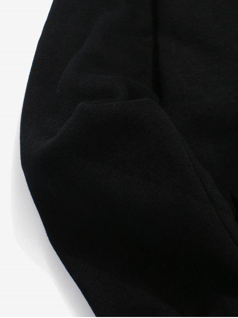 sale Lightning Logo Fleece Hoodie - BLACK XS Mobile