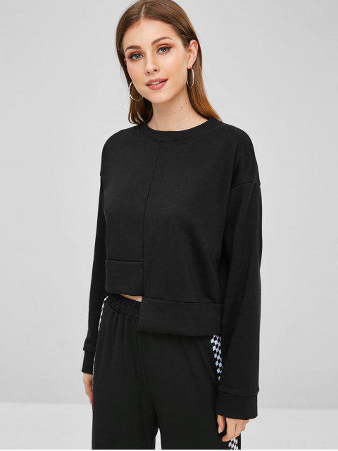 Sweat-shirt Asymétrique à Goutte Epaule - Noir Taille Unique Mobile