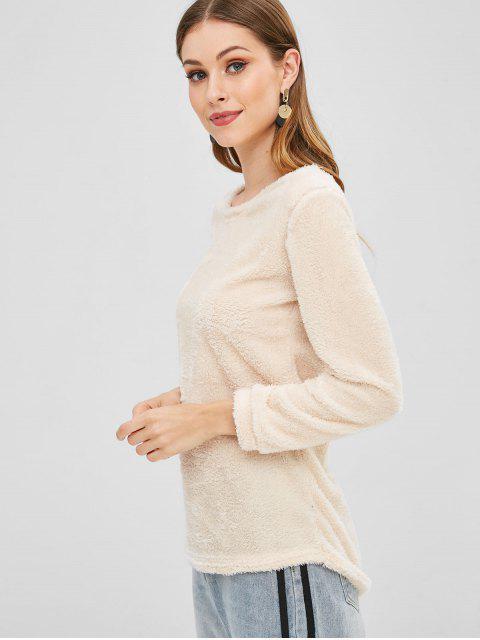 Sweat-shirt Simple en Fausse Fourrure - Citron Mousseline S Mobile
