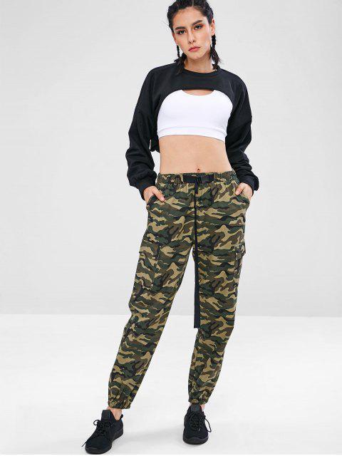 ZAFUL Camouflage Pocket Jogger Pants - Wald Tarnanstrich S Mobile