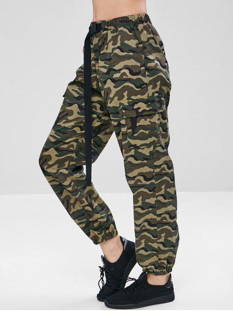 shops ZAFUL Camouflage Pocket Jogger Pants - WOODLAND CAMOUFLAGE L Mobile