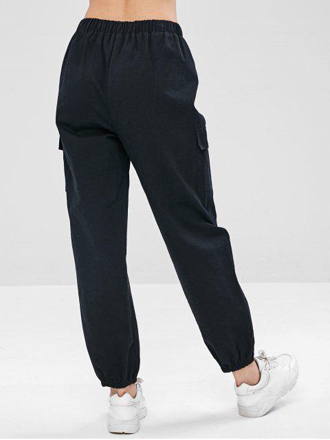 ZAFUL Drawstring Pocket Jogger pantalones - Negro M Mobile