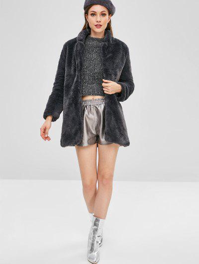 ZAFUL / Open Front Fluffy Teddy Coat