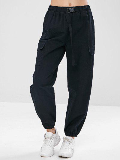 13d3d5e0b ZAFUL Drawstring Pocket Jogger Pants - Black M ...