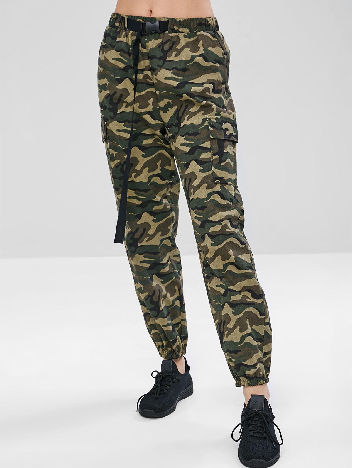 ZAFUL Camouflage Pocket Jogger Pants фото