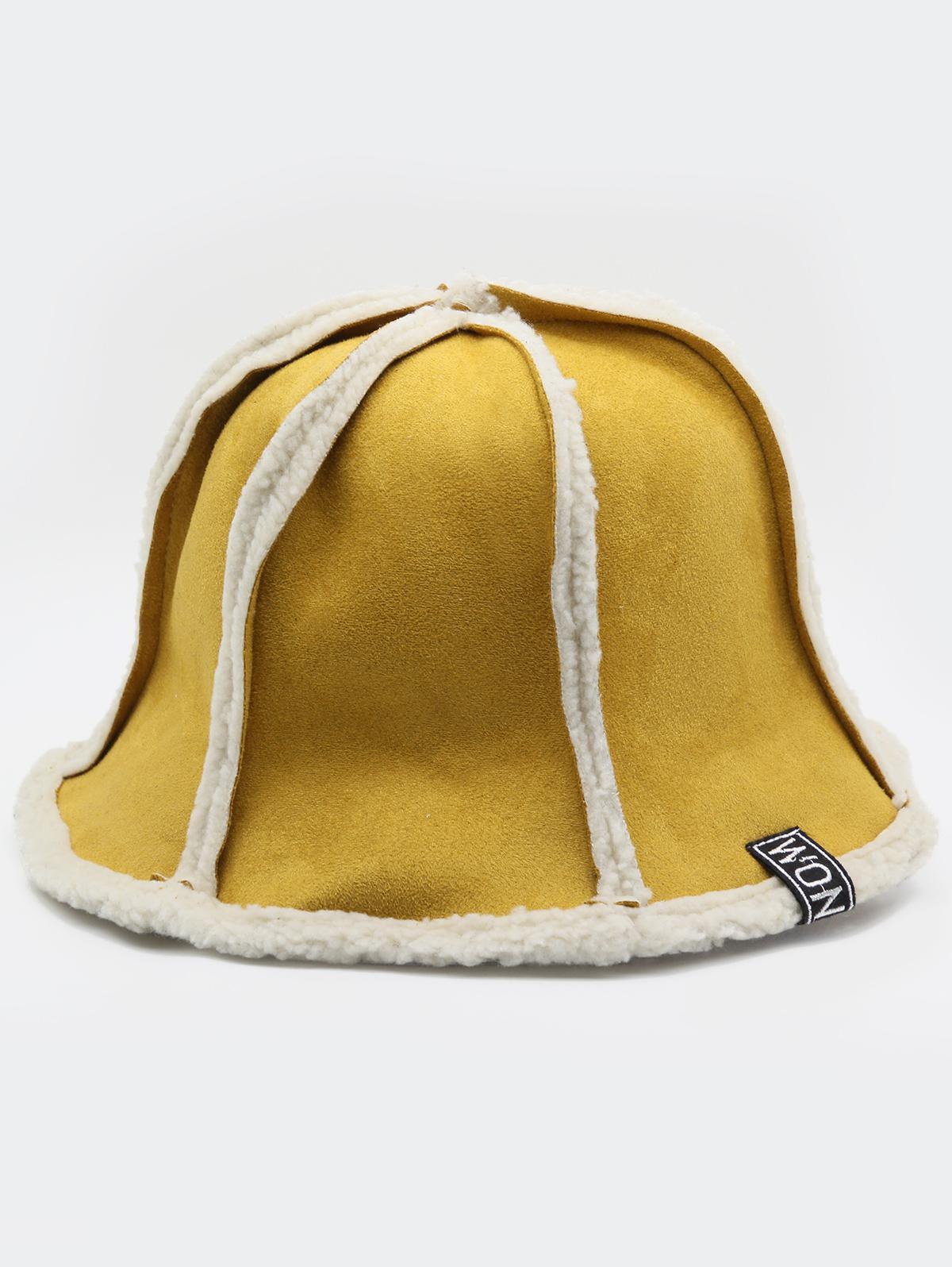 Fuzzy Letter Decoration Bucket Hat