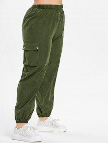 جيوب جانبية بالاضافة الى حجم السراويل - الجيش الأخضر 3x