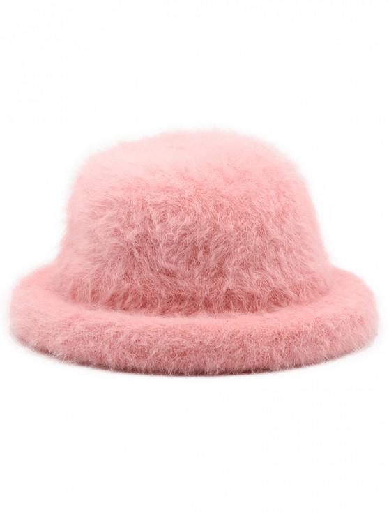 2019 Winter Fuzzy Simple Style Bucket Hat In PINK  c80df6f0ac7