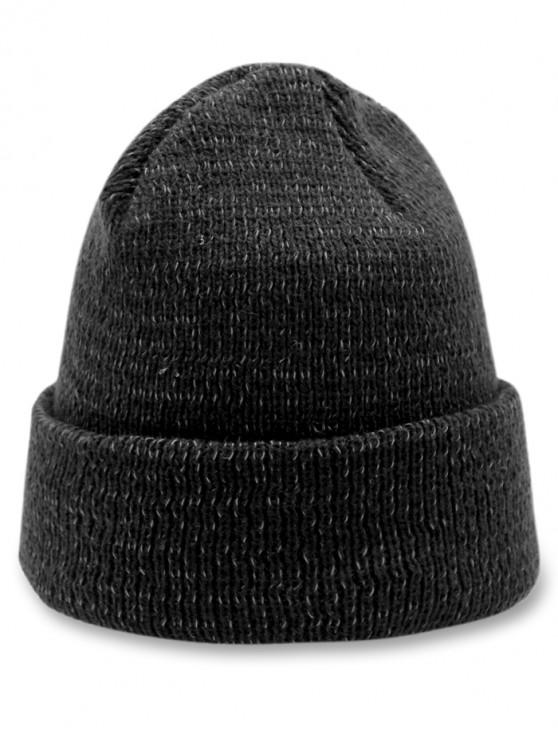outfit Minimalist Style Winter Knitted Beanie - BLACK
