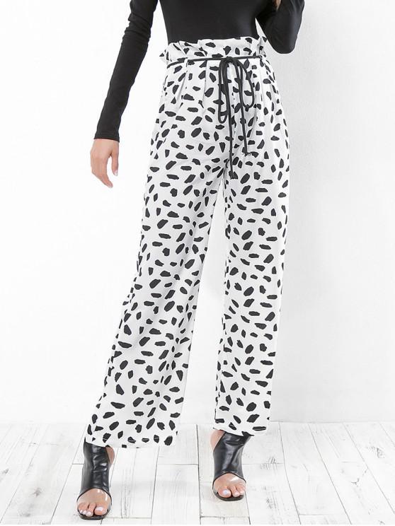 gemütlich frisch günstig kaufen weltweit bekannt Hose mit weitem Bein und Leopardenmuster