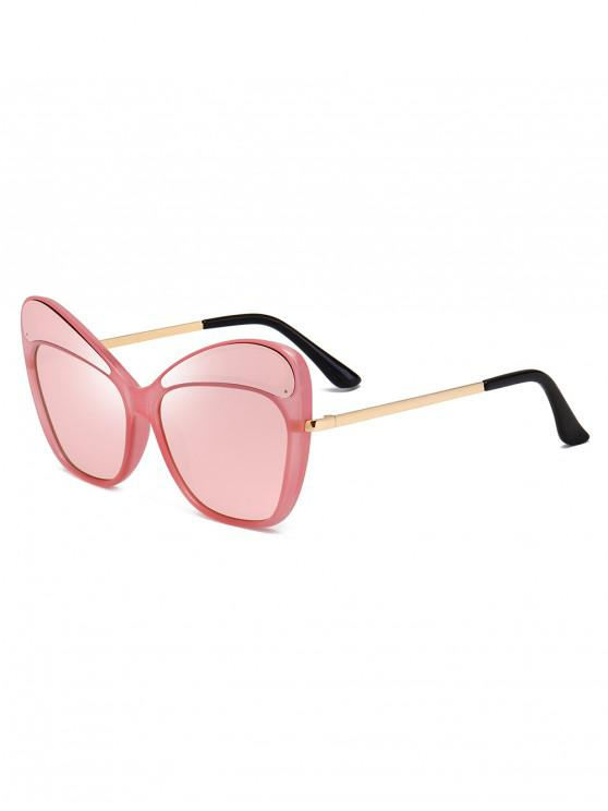 outfit Metal PC Butterfly Shape Frame Sunglasses - PINK