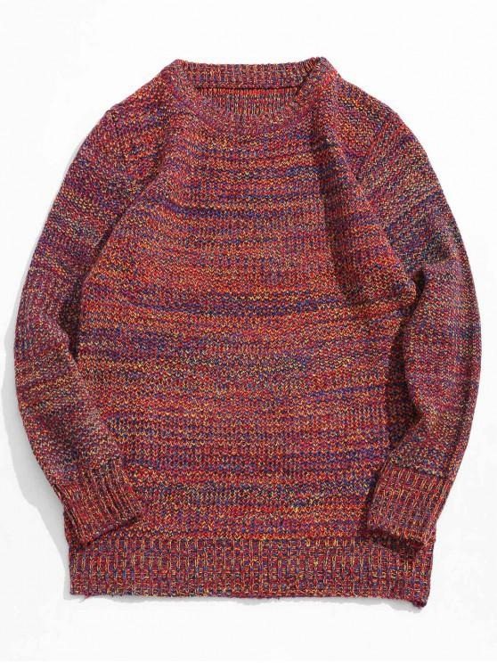 chic Heather Jumper Sweater - RED S