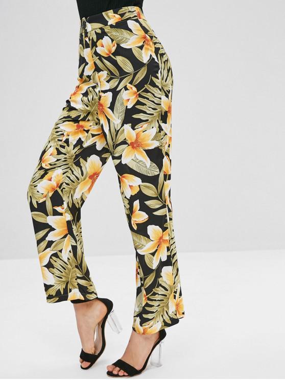 Hose mit weitem Bein und Blumenmuster - Multi M
