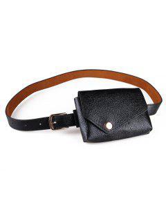 Simple Style Fanny Pack Belt - Black
