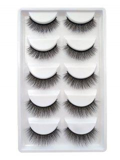 Criss Cross Extension False Eyelashes - Schwarz