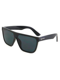 Business Rectangle PC Frame Sunglasses - Black