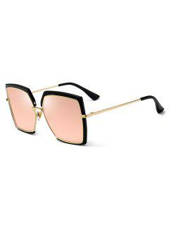 Unisex PC Metal Frame Sunglasses - Pink