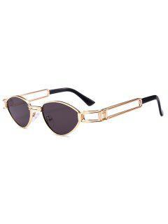 Punk Metal Butterfly Hollowed Frame Sunglasses - Black