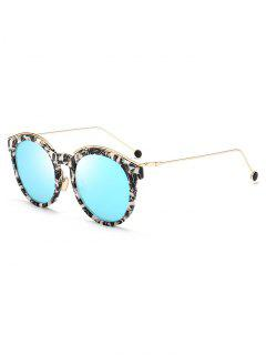 Stylish Metal Temple Butterfly Frame Sunglasses - Sky Blue