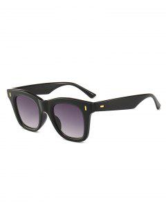 Square Design Rivet Decoration Sunglasses - Black