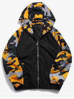 Camo Patchwork Padded Jacket - Yellow 2xl