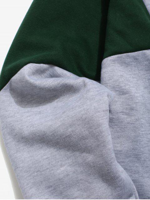 outfit Half Zipper Color Block Fleece Hoodie - LIGHT GRAY XL Mobile
