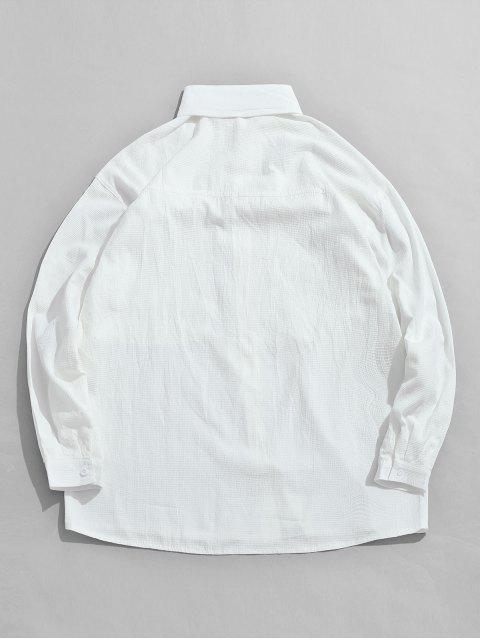 Veste Boutonnée avec Poche Poitrine - Blanc 2XL Mobile