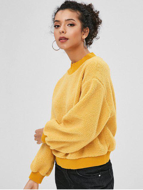 Sweat-shirt Fourré en Blocs de Couleurs - Verge d'Or L Mobile