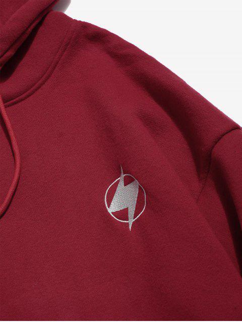 online Lightning Logo Fleece Hoodie - RED XS Mobile