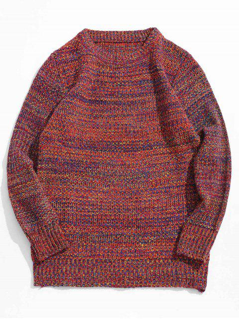 fancy Heather Jumper Sweater - RED XS Mobile