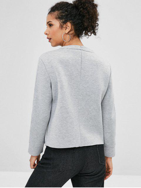 Sweat-shirt Ample Simple Cœur Applique - Gris S Mobile