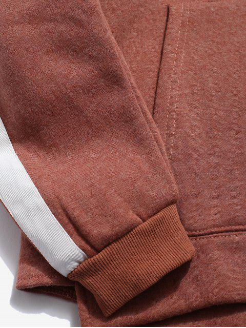 new Sleeve Stripe Casual Hoodie - CHERRY RED XL Mobile