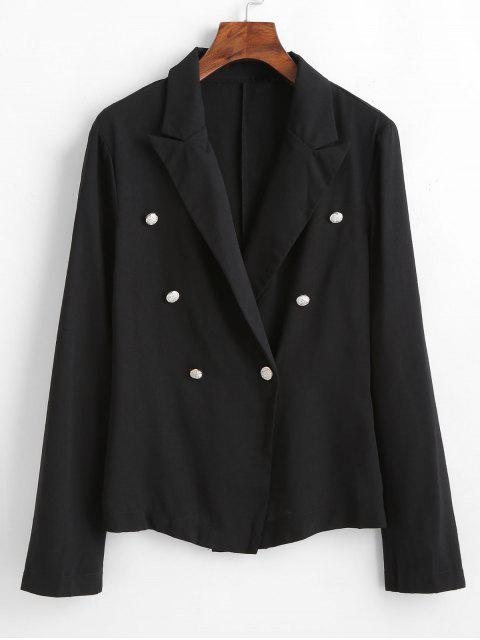 outfit Button Embellished Lapel Blazer - BLACK L Mobile