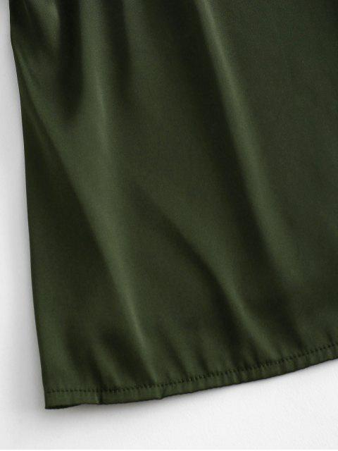 ZAFUL Regata Liso Cami Regata - Exército verde Um Tamanho Mobile