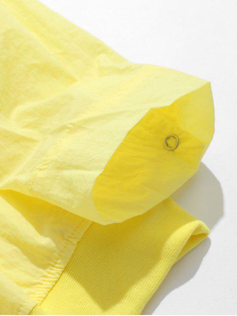 shops Front Pockets Zip Fly Jacket - CORNSILK 4XL Mobile