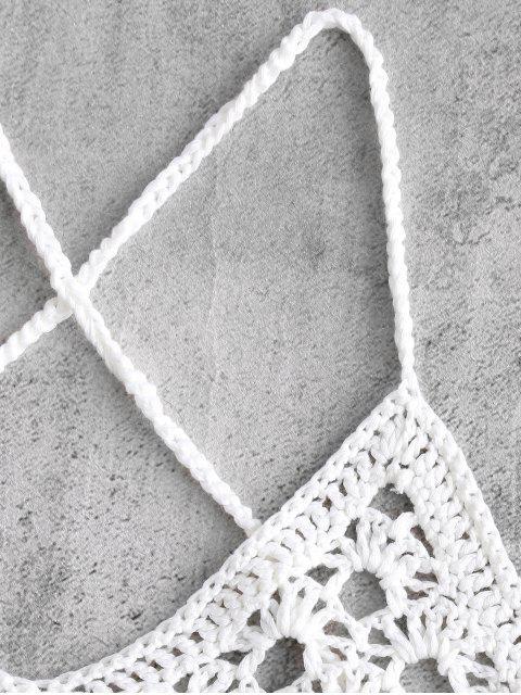 Monokini Noué à Côté au Crochtet - Blanc L Mobile