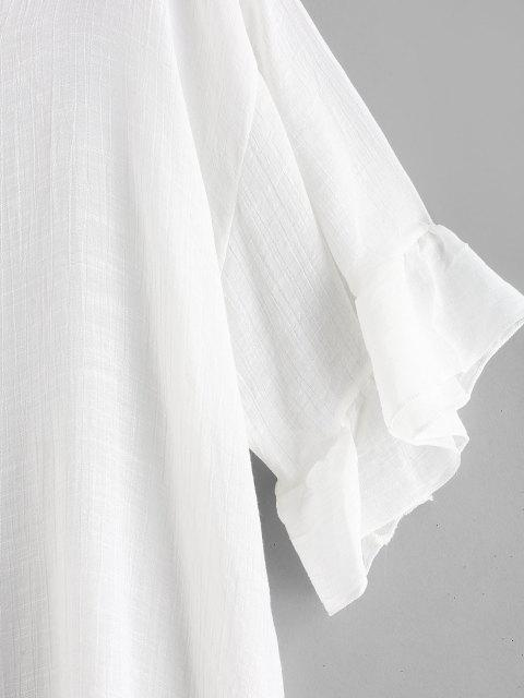 ladies Ruffles Cover-up Dress - WHITE ONE SIZE Mobile