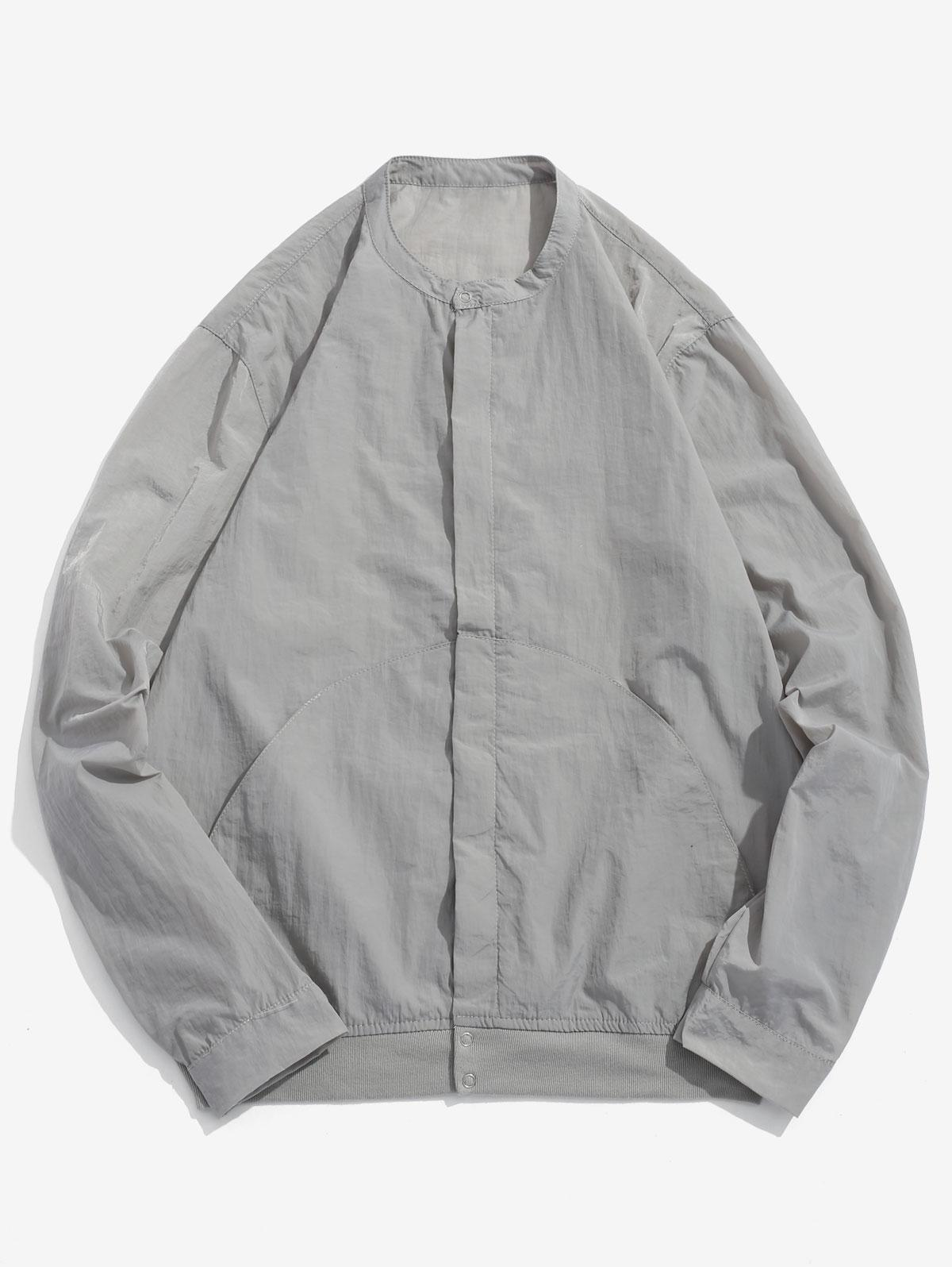 Front Pockets Zip Fly Jacket фото
