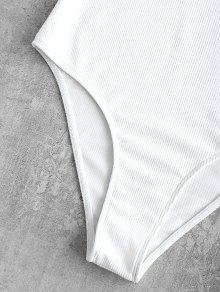 f3f6e80c19 34% OFF  2019 ZAFUL Halter High Cut Ribbed Swimsuit In WHITE S