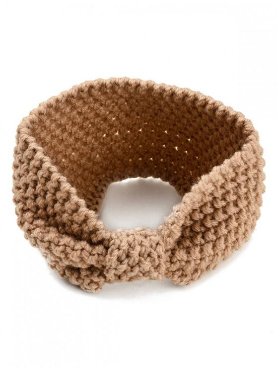 womens Stylish Bowknot Shape Hair Band - CARAMEL