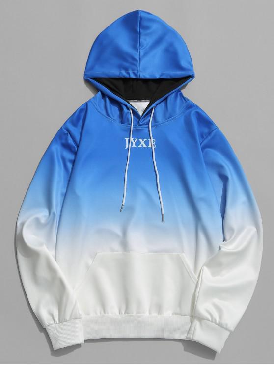 Carta Ombre Imprimir Bolsillo bolsillo con capucha - Azul XS