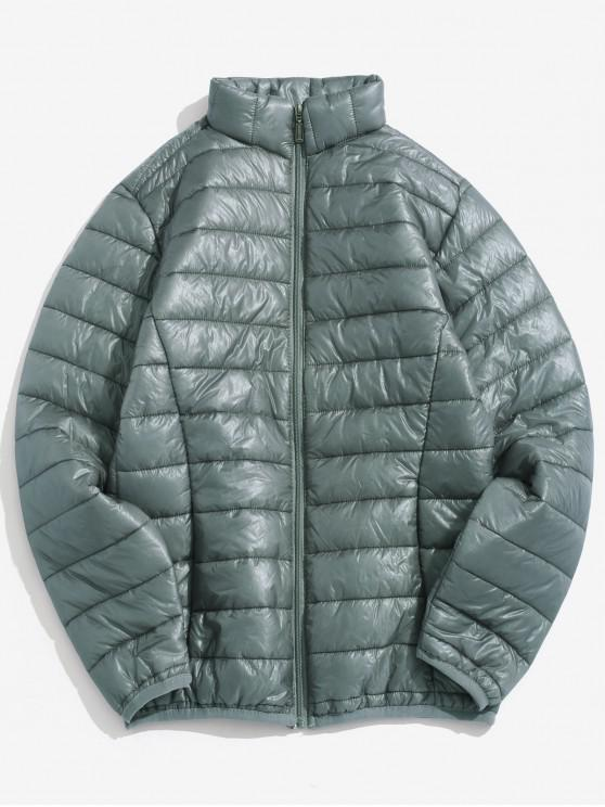 best Solid Padded Lightweight Jacket - GRAY CLOUD S