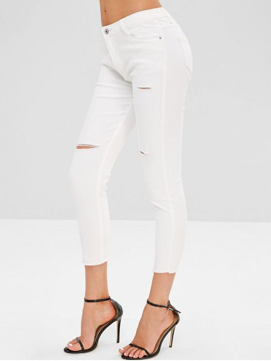 best Distressed Colored Jeans - WHITE XL