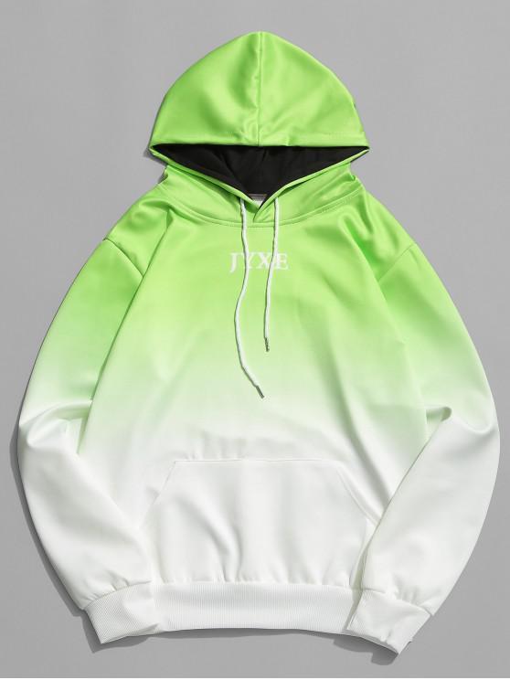 رسالة جيب الطباعة جيب الحقيبة هوديي - أخضر XS