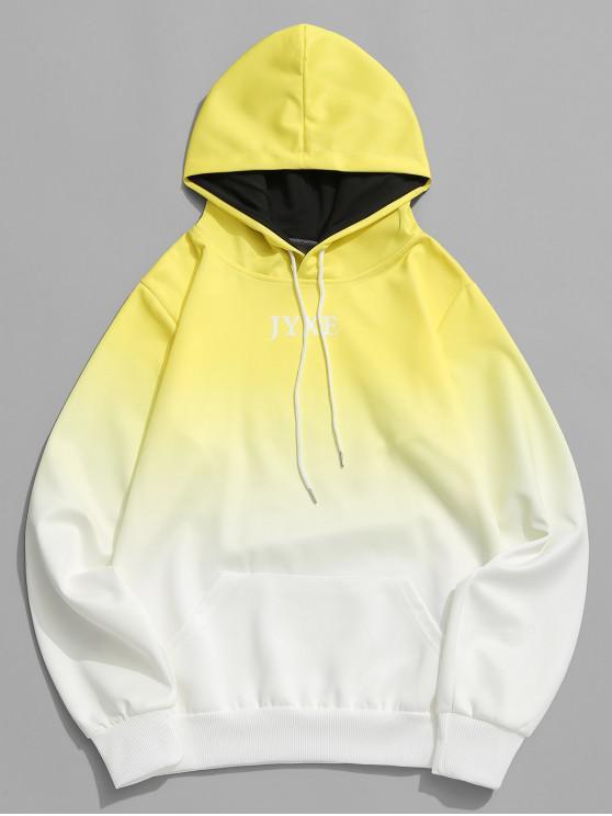Brief-Ombre-Drucktasche mit Kapuze - Gelb M