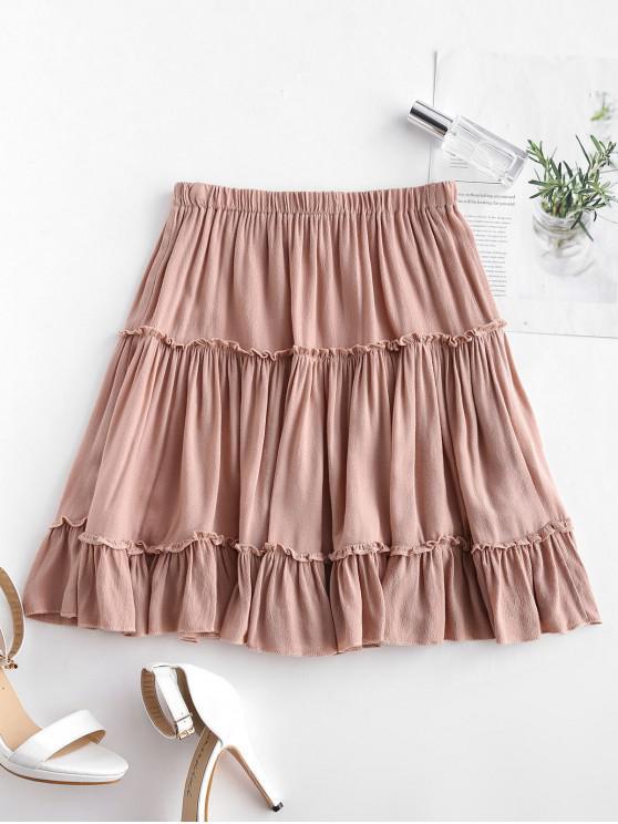 1164f0496c9 32% OFF   HOT  2019 Frilled Ruffles Skirt In ORANGE PINK